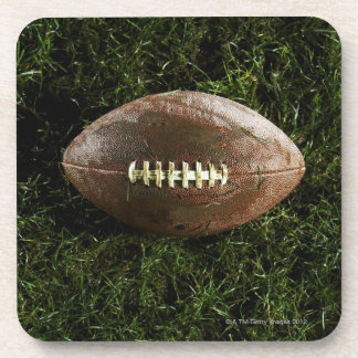 American football on grass, view from above drink coasters