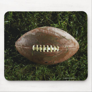 American football on grass, view from above mouse pad