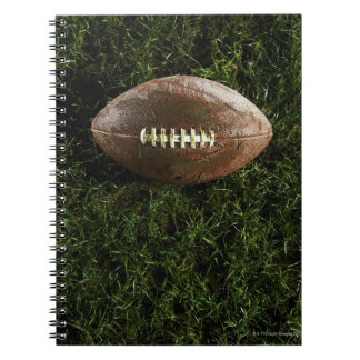 American football on grass, view from above spiral notebooks