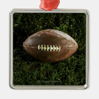 American football on grass, view from above christmas tree ornaments