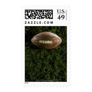 American football on grass, view from above stamps