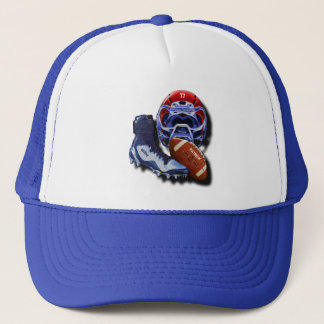 American Football Or Rugby Helmet Ball Shoe Named Trucker Hat