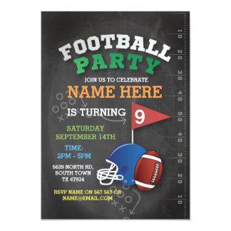 American Football Party Invite Birthday Invitation