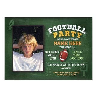 American Football Party Invite Photo Invitatation