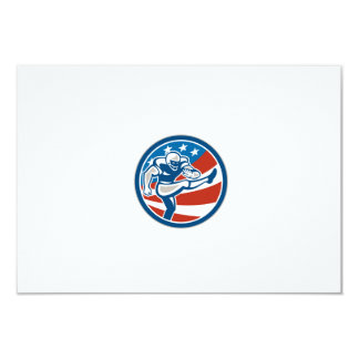 American Football Placekicker Circle Retro 9 Cm X 13 Cm Invitation Card