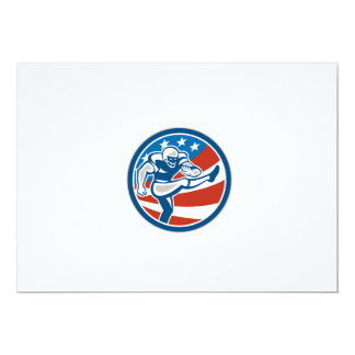 American Football Placekicker Circle Retro 13 Cm X 18 Cm Invitation Card