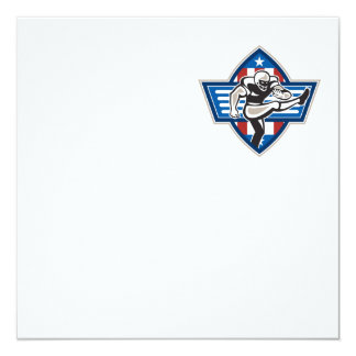 American Football Placekicker 13 Cm X 13 Cm Square Invitation Card