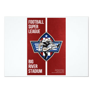 American Football Placekicker Super League Poster 13 Cm X 18 Cm Invitation Card