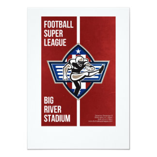 American Football Placekicker Super League Poster 11 Cm X 16 Cm Invitation Card