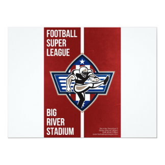 American Football Placekicker Super League Poster 17 Cm X 22 Cm Invitation Card