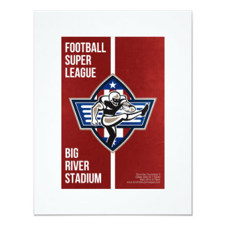 American Football Placekicker Super League Poster 11 Cm X 14 Cm Invitation Card