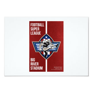 American Football Placekicker Super League Poster 9 Cm X 13 Cm Invitation Card