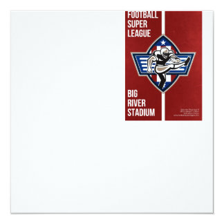 American Football Placekicker Super League Poster 13 Cm X 13 Cm Square Invitation Card
