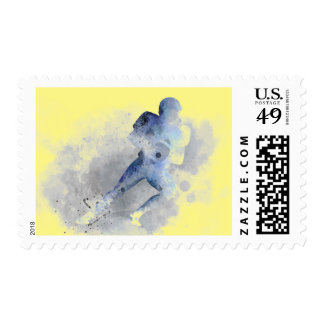 AMERICAN FOOTBALL PLAYER 1 STAMP
