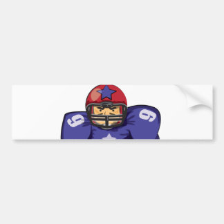 American football player bumper sticker