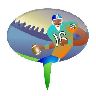 American football player cartoon cake topper