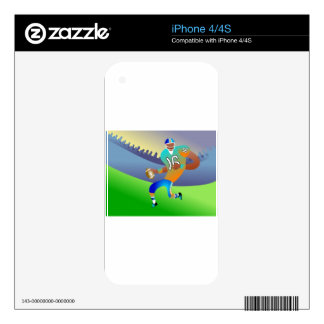 American football player cartoon skin for iPhone 4S