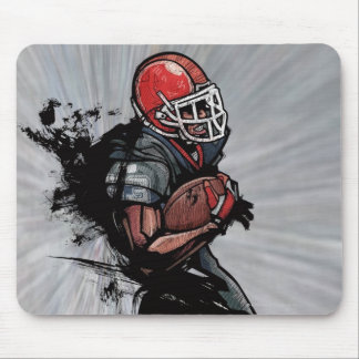 American football player holding football mouse pad