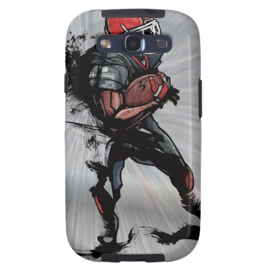 American football player holding football samsung galaxy SIII case