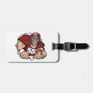 American Football Player Luggage Tags