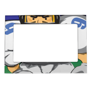 American football player magnetic frame