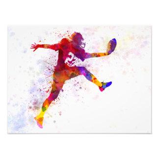 american football player man scoring touchdown fotografía