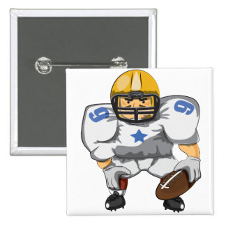 American football player pinback button
