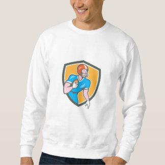 American Football Player Rusher Shield Retro Sweatshirt