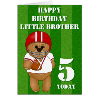 American Football Player Teddy Brothers Birthday Greeting Cards