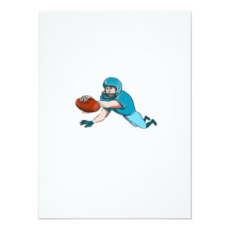 American Football Player Touchdown Drawing Card