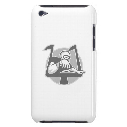 American Football Player Touchdown Grayscale iPod Case-Mate Cases