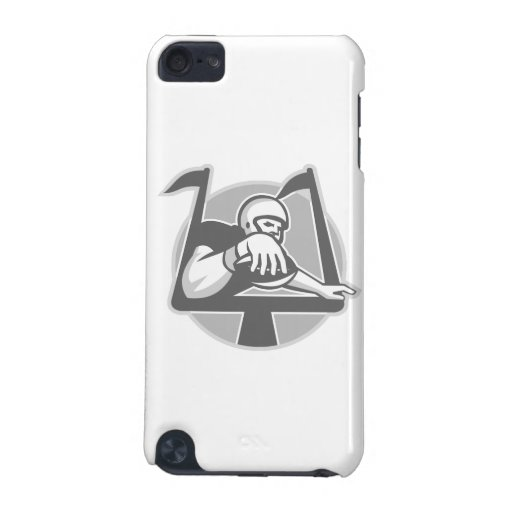 American Football Player Touchdown Grayscale iPod Touch 5G Covers