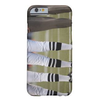 American football players and coach standing on barely there iPhone 6 case