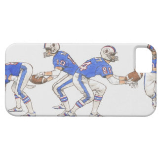American football players demonstrating moves iPhone SE/5/5s case