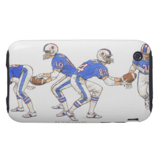American football players demonstrating moves tough iPhone 3 cover