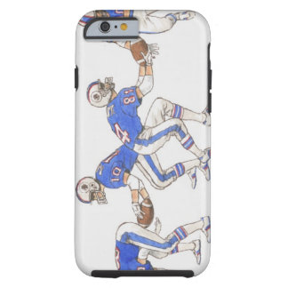 American football players demonstrating moves tough iPhone 6 case