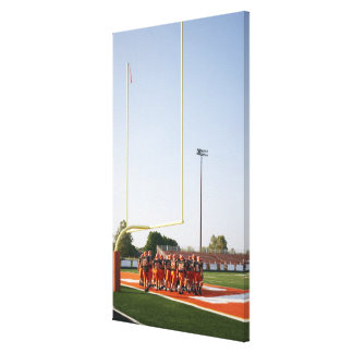 American football players, including teenagers canvas print