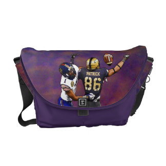 American Football Players With Your Name Painting Messenger Bag