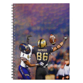 American Football Players With Your Name Painting Notebook