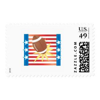 American Football Postage Stamp