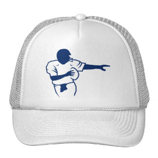 American football Q outlined Trucker Hat