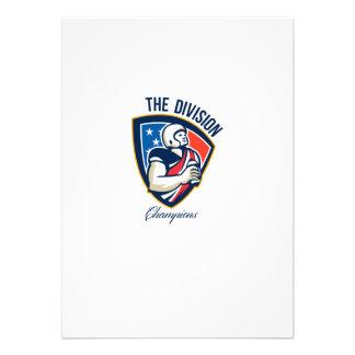 American Football Quarterback Division Champions Personalized Invitation