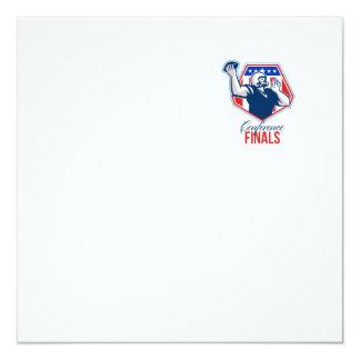 American Football Quarterback Shield Conference Fi 13 Cm X 13 Cm Square Invitation Card