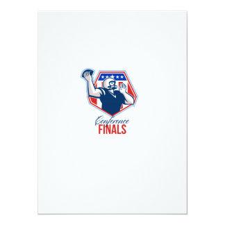 American Football Quarterback Shield Conference Fi 14 Cm X 19 Cm Invitation Card