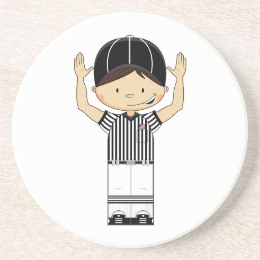 American Football Referee Coaster