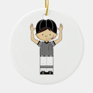 American Football Referee Ornament