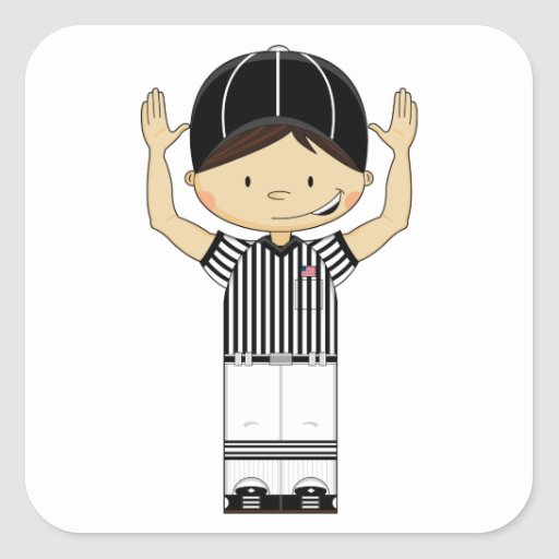 American Football Referee Sticker