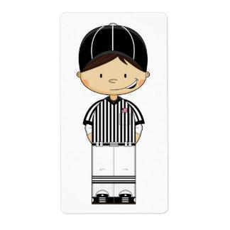 American Football Referee Sticker Label
