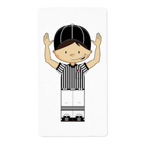 American Football Referee Sticker Label Zazzle