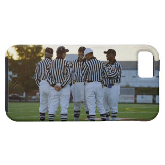 American football referees talking in field iPhone 5 case
